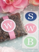 Elegant Labels Company :  1 letter monograms wedding labels wedding monograms wedding seals